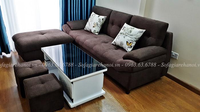 Hình ảnh ghế sofa nỉ đẹp cho chung cư với thiết kế dạng văng
