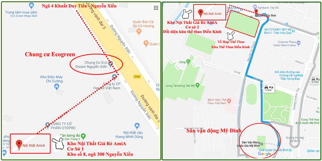 Hình ảnh Bản đồ chỉ đường đến tổng kho Nội thất AmiA