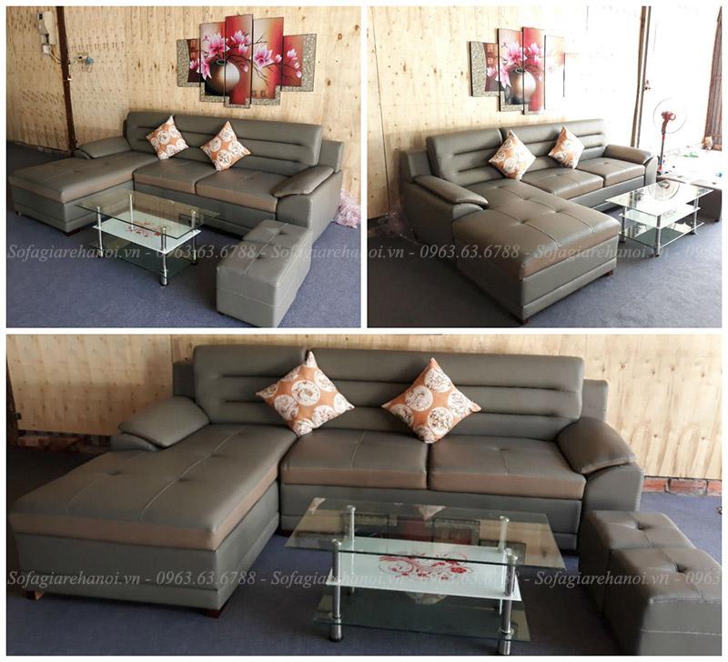Hình ảnh Mẫu sofa đẹp da chữ L hiện đại và sang trọng tại Nội thất AmiA