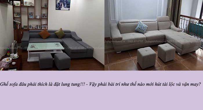 Hình ảnh bộ ghế sofa đẹp bài trí trong phòng khách gia đình Việt