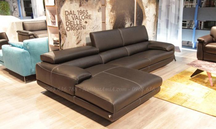 Hình ảnh Bộ sofa da chữ L đẹp hiện đại và sang trọng AmiA SFD102