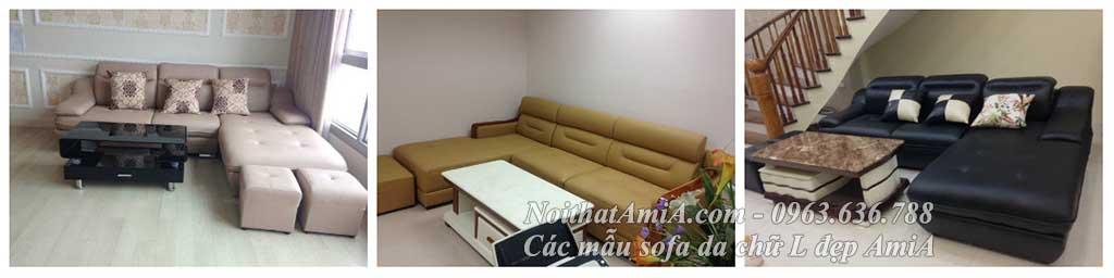 Hình ảnh các mẫu sofa da chữ L đẹp hiện đại và sang trọng