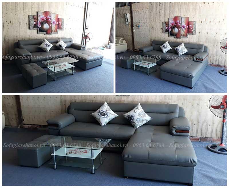 Hình ảnh Các mẫu sofa đẹp chữ L với chất liệu da hiện đại