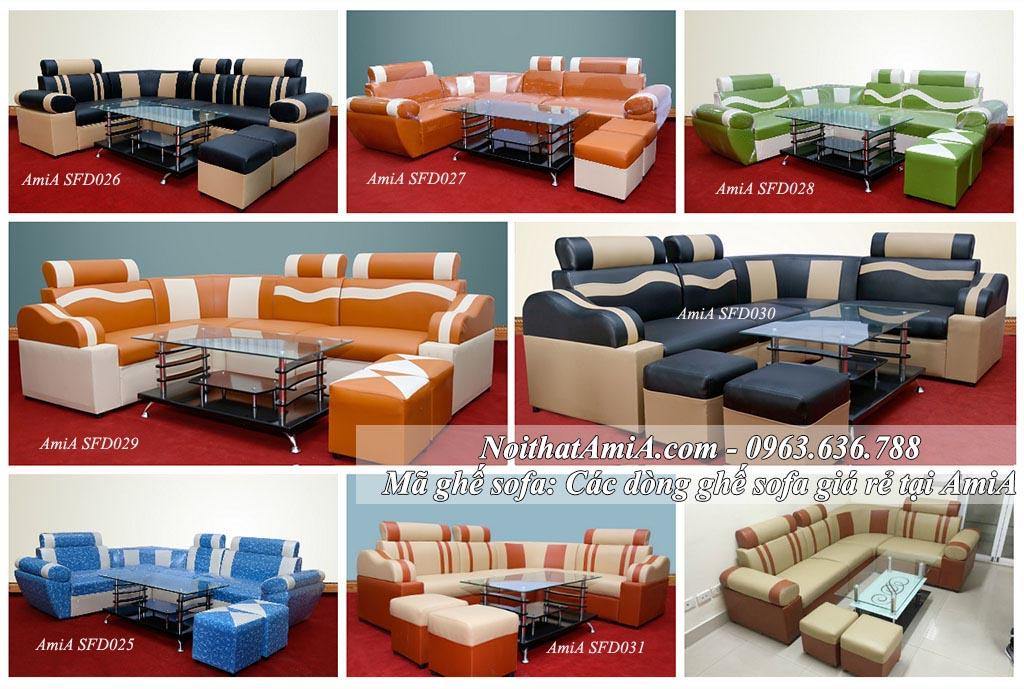 Hình ảnh các mẫu ghế sofa giá rẻ đẹp tại Nội thất AmiA