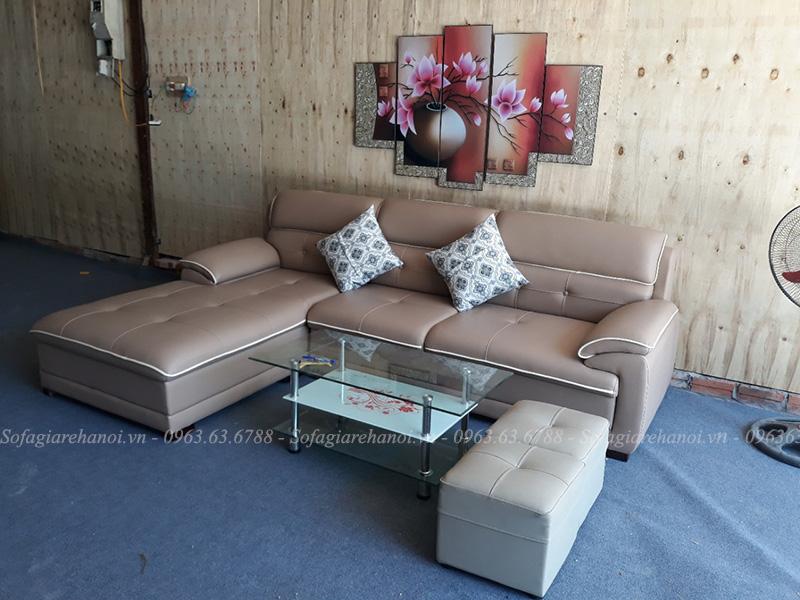 Hình ảnh Ghế sofa đẹp da chữ L hiện đại, sang trọng và đẳng cấp