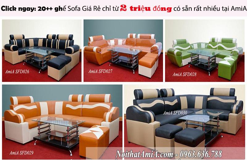 Hình ảnh Các mẫu ghế sofa giá rẻ đẹp hiện đại chỉ từ 2 triệu đồng có sẵn ngay tại AmiA