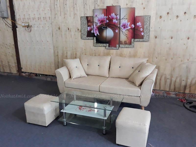 Hình ảnh mMẫu ghế sofa nhỏ gọn dạng văng kích thước nhỏ