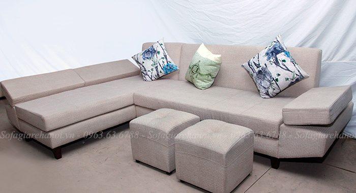 Hình ảnh mẫu ghế sofa nỉ chữ L đẹp hiện đại và sang trọng