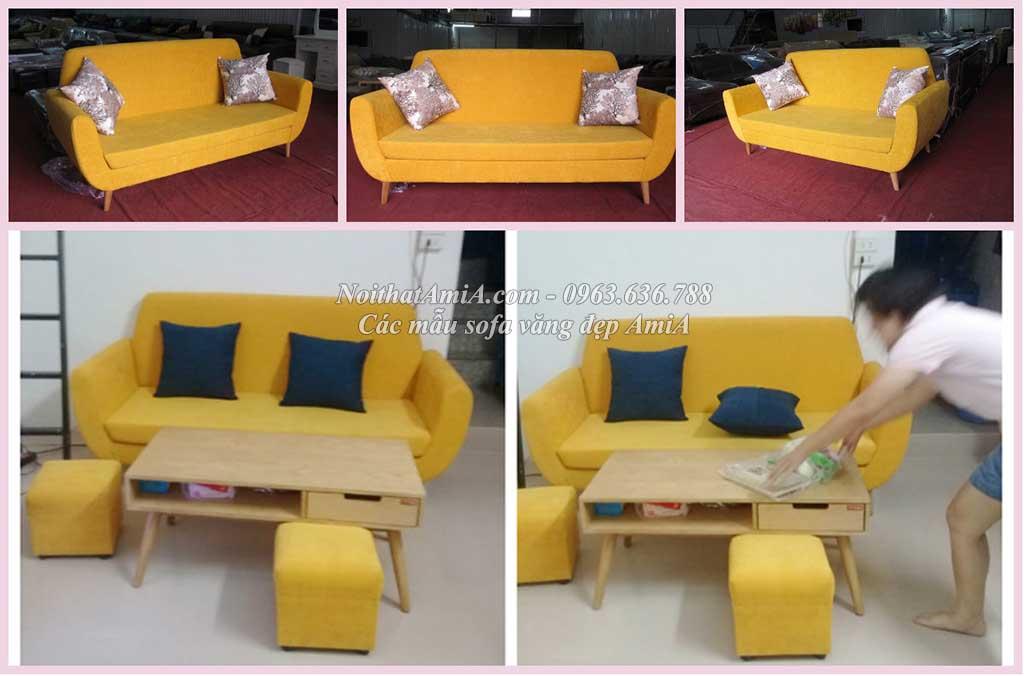 Hình ảnh mẫu sản phẩm ghế sofa văng đẹp AmiA SF112 với kích thước nh
