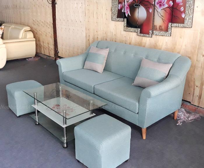 Hình ảnh Ghế sofa văng đẹp chất liệu nỉ AmiA SFN155