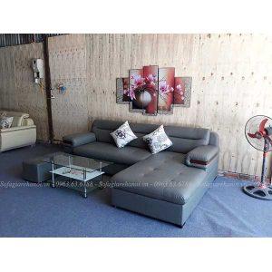 Hình ảnh đại diện cho mẫu ghế sofa chữ L chất liệu da đẹp
