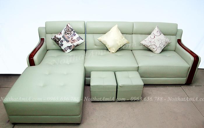 Hình ảnh Mẫu ghế sofa da chữ L đẹp hiện đại và sang trọng