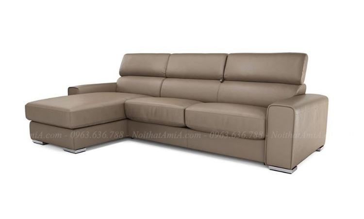 Hình ảnh Mẫu ghế sopha đẹp với thiết kế đơn giản cùng chất liệu da