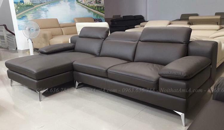 Hình ảnh Mẫu sofa đẹp chất liệu da hiện đại cho phòng khách gia đình