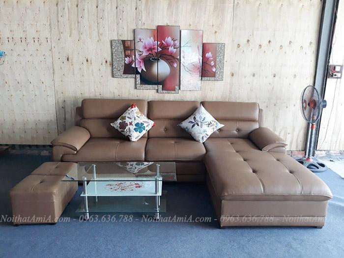 Hình ảnh Mẫu sofa đẹp da chữ l hiện đại và sang trọng cho căn phòng đẹp