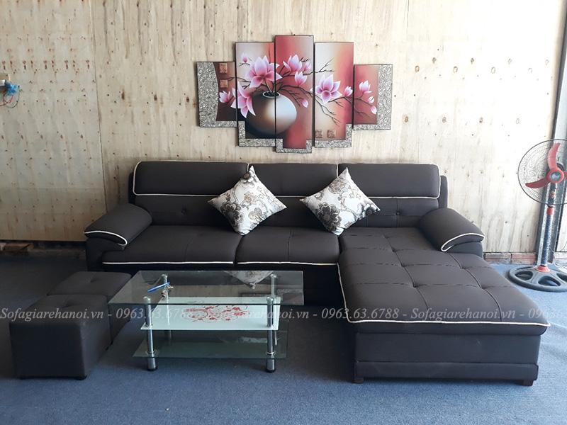 Hình ảnh Ghế sofa đẹp da chữ L hiện đại và sang trọng