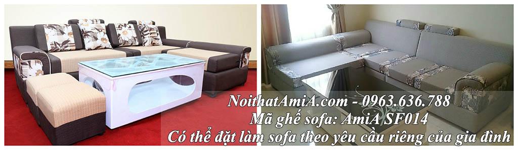 Hình ảnh mẫu sofa đẹp nỉ chữ L AmiA SFN014