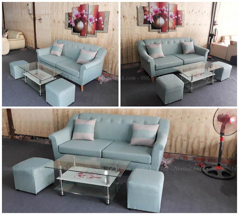 Hình ảnh các mẫu sofa nhỏ đẹp hiện đại với các góc chụp