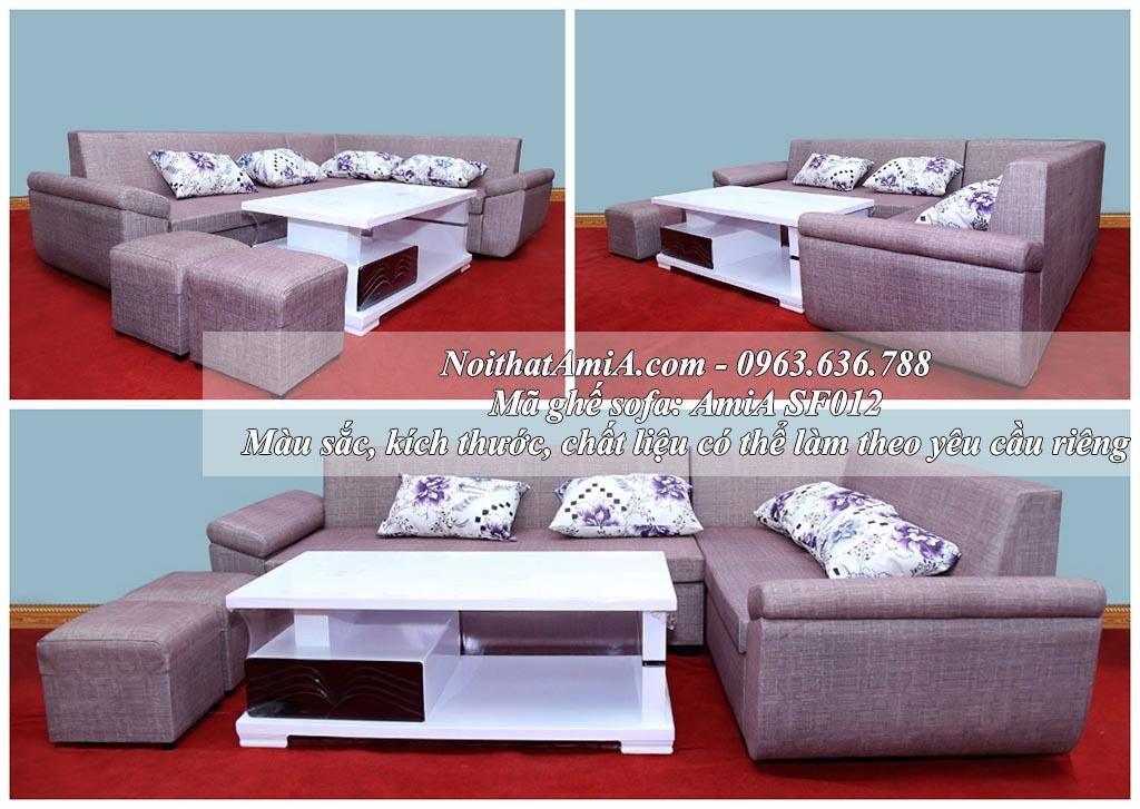 Hình ảnh mẫu sofa nỉ góc chữ L AMiA SFN012