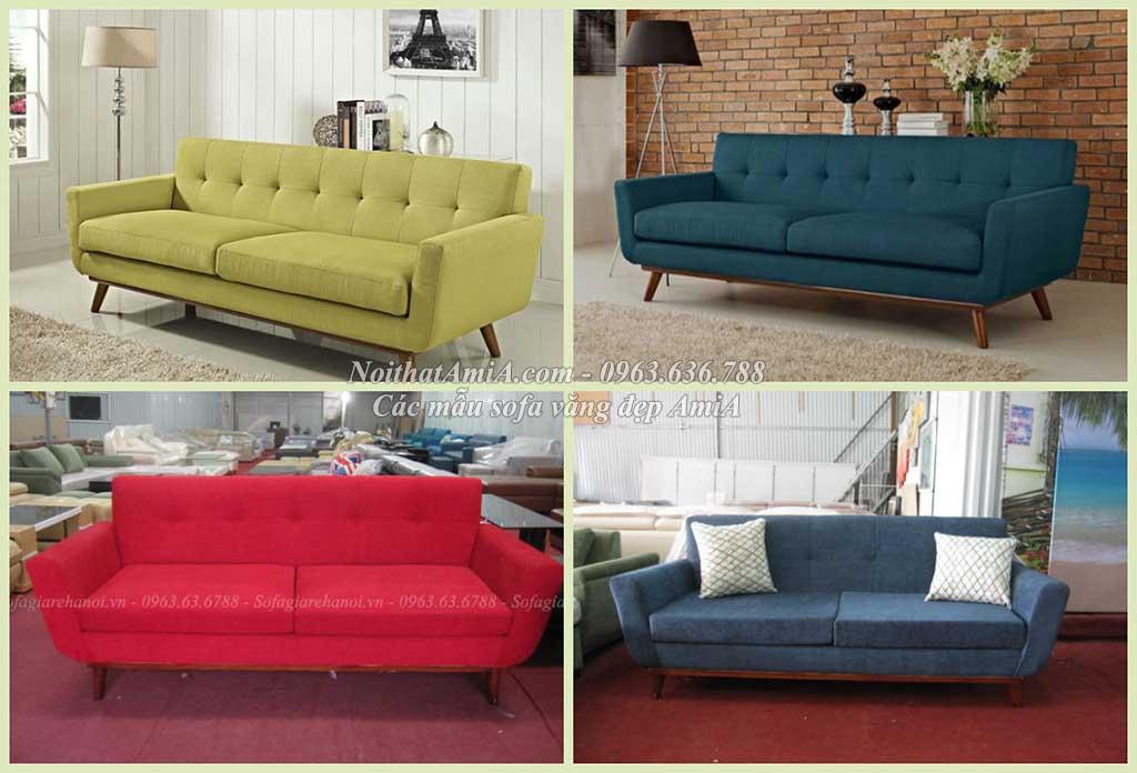 Hình ảnh mMẫu ghế sofa văng đẹp AmiA SF095 với nhiều màu sắc