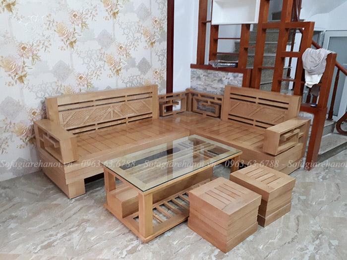 Hình ảnh ghế sofa gỗ góc đẹp hiện đại và sang trọng