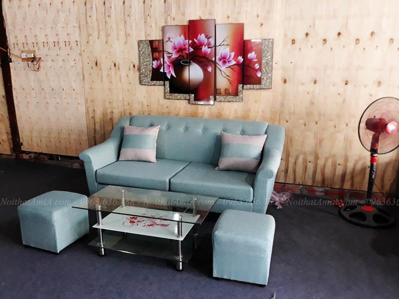 Hình ảnh Mẫu ghế sofa nhỏ mini đẹp cho nhà nhỏ, phòng khách nhỏ