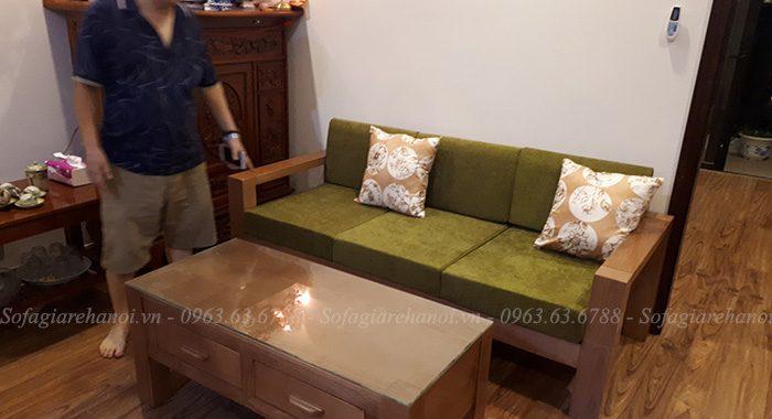 Hình ảnh mẫu ghế sofa văng gỗ đẹp tích hợp thêm phần nệm mút