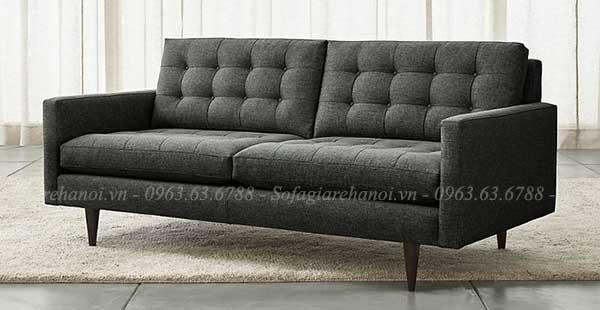 Hình ảnh sofa văng nhỏ đẹp với gam màu sậm sang trọng