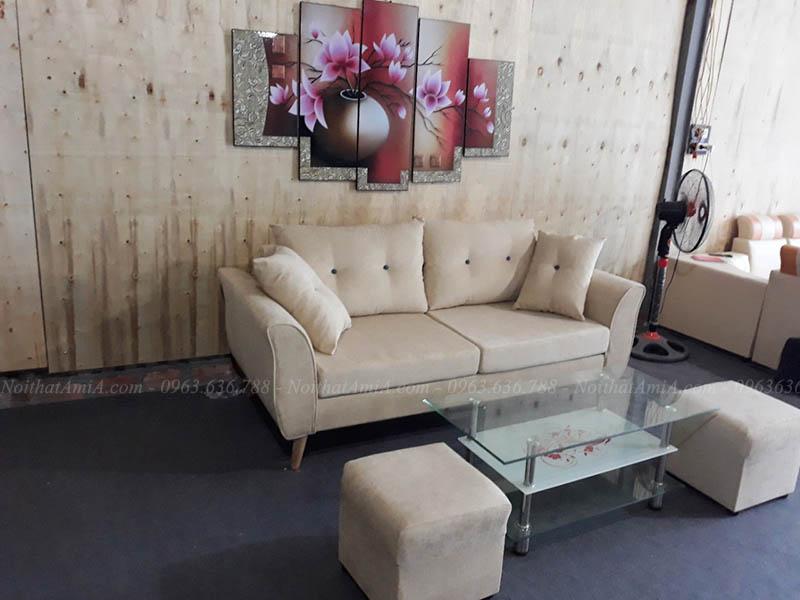 Hình ảnh Ghế sofa văng nhỏ đẹp cho phòng khách nhà nhỏ, nhà chung cư