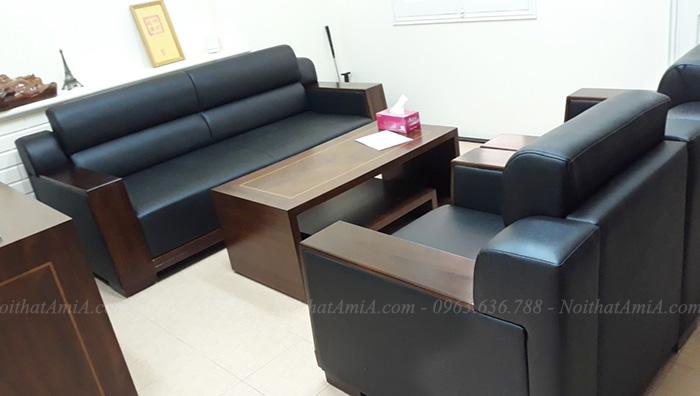 Hình ảnh Bộ bàn ghế sofa đẹp văn phòng làm việc hiện đại, sang trọng