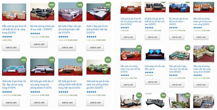 Hình ảnh Các mẫu ghế sofa giá rẻ đẹp Hà Nội