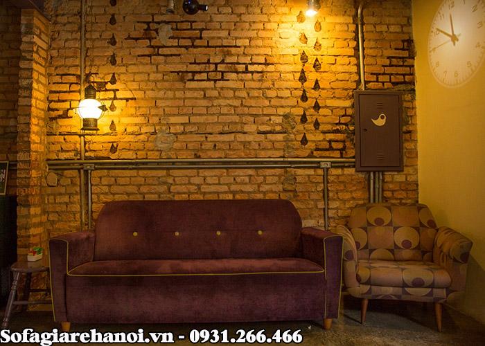 Hình ảnh Ghế sofa cafe đẹp thiết kế dạng ghế sofa văng nhỏ xinh