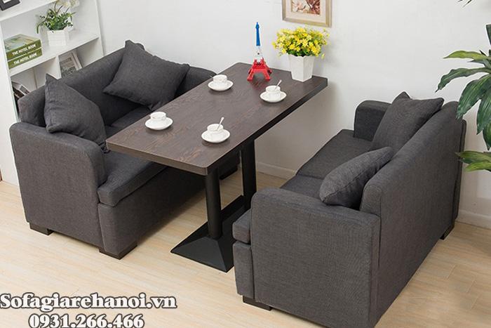Hình ảnh Ghế sofa cafe đẹp chất liệu nỉ dạng văng 2 chỗ