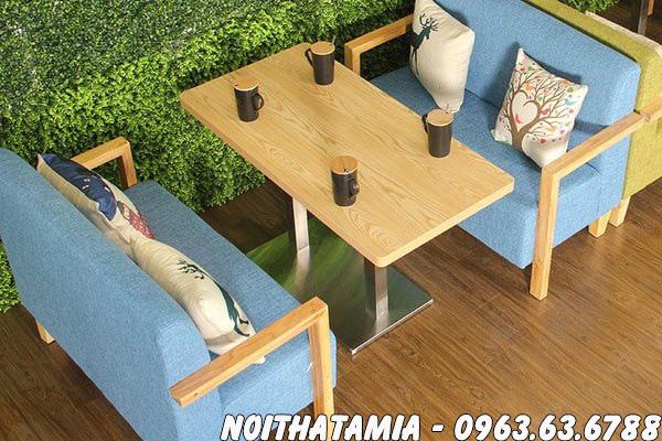 Hình ảnh Ghế sofa cafe đẹp hiện đại kết hợp bàn trà đẹp
