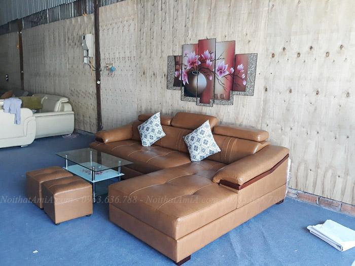 Hình ảnh Ghế sofa đẹp da hình chữ l cho căn phòng khách đẹp