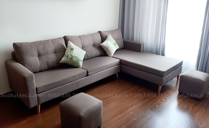 Hình ảnh Mẫu ghế sofa đẹp hiện đại bài trí trong phòng khách nhà khách hàng