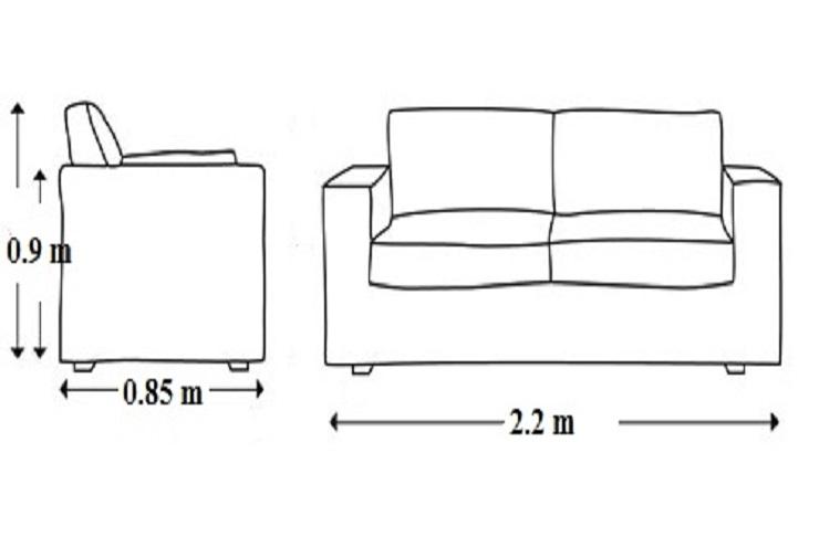 Hình ảnh Kích thước tiêu chuẩn ghế sofa văng da có thể bạn chưa biết