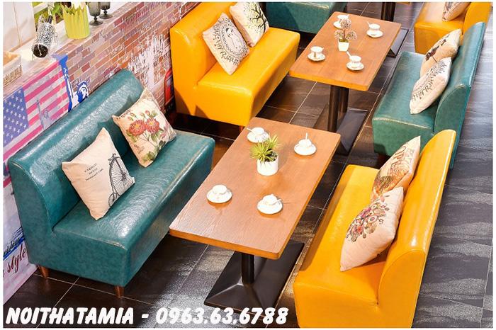 Hình ảnh Mẫu ghế sofa cafe đẹp hiện đại với nhiều gam màu đẹp