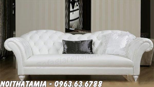 Hình ảnh Mẫu ghế sofa spa đẹp thiết kế rút khuy và kiểu dáng hơi bành rộng