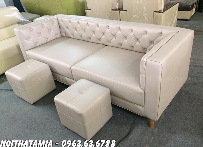 Hình ảnh Mẫu ghế sofa spa kiểu dáng văng da đẹp hiện đại tại Nội thất AmiA
