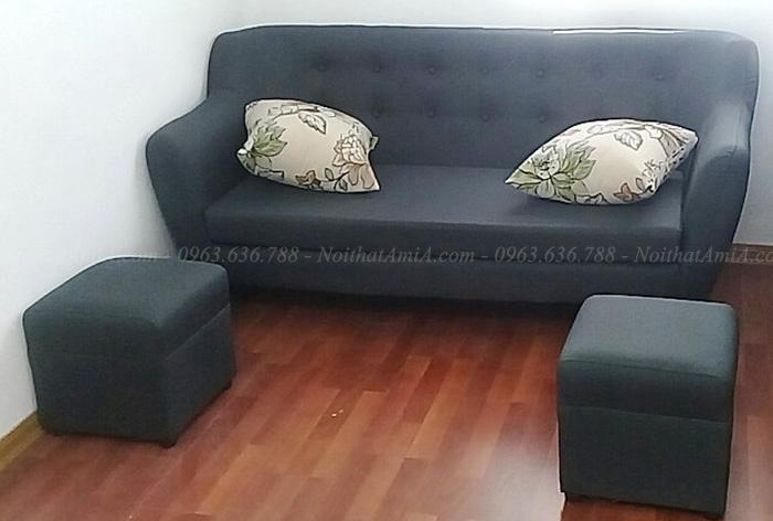 Hình ảnh Mẫu sofa văng nỉ đẹp hiện đại cho phòng khách nhà khách hàng