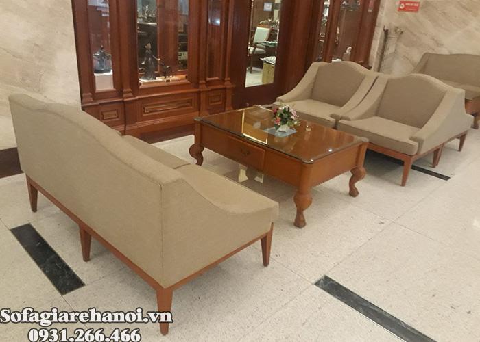 Hình ảnh Mẫu ghế sofa cafe Hà Nội bài trí xinh xắn trong không gian đẹp