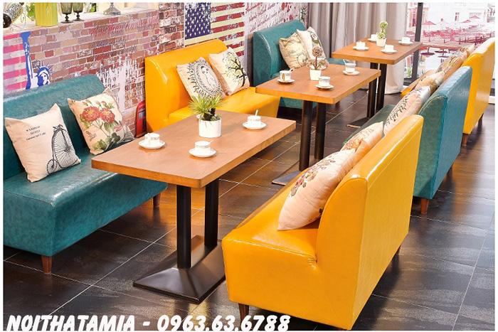 Hình ảnh Sofa cafe Hà Nội mang đến không gian đẹp, hiện đại thật tuyệt vời