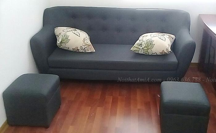 Hình ảnh Ghế sofa văng nỉ đẹp hiện đại giá rẻ tại Hà Nội