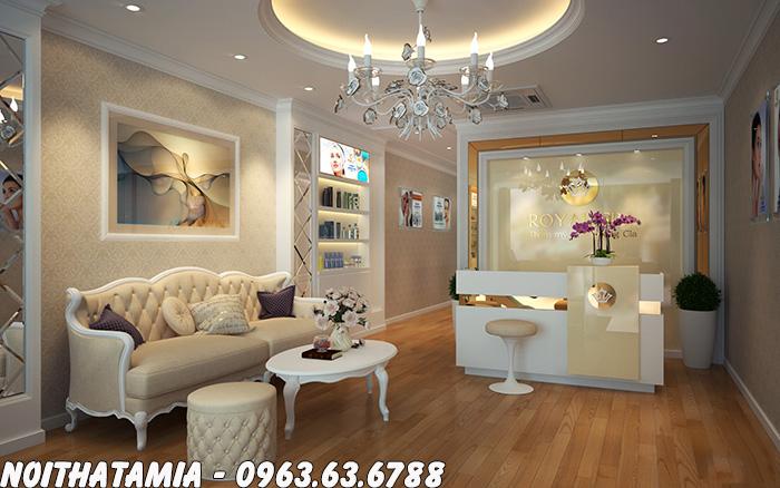 Hình ảnh Sofa spa phong cách tân cổ điển bài trí ở không gian sảnh spa