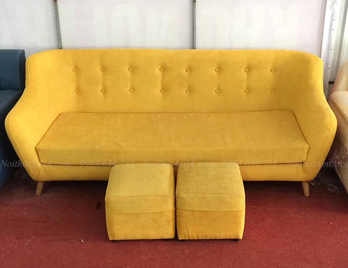 Hình ảnh Sofa văng đẹp giá rẻ tại Hà Nội với ảnh chụp thực tế tại Tổng kho Nội thất AmiA Hà Nội