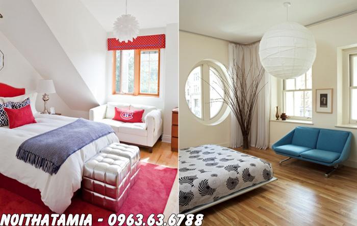 Hình ảnh Bài trí ghế sofa đơn trong phòng ngủ đẹp