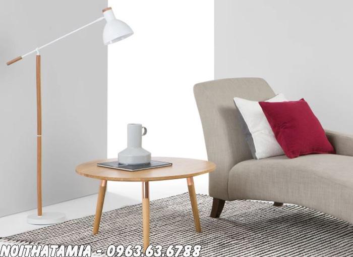 Hình ảnh Mẫu bàn trà sofa phòng ngủ kết hợp cùng ghế sofa đơn đẹp
