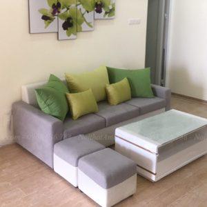 Hình ảnh Bộ bàn ghế sofa nhỏ gọn gàng, xinh xắn