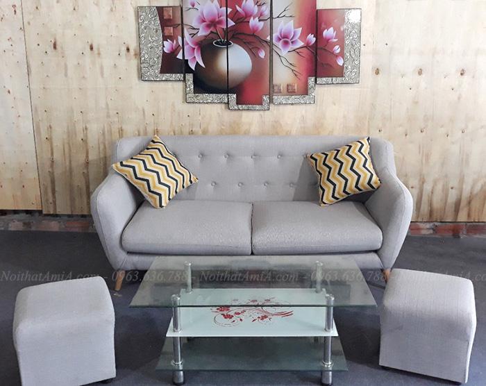 Hình ảnh Bộ bàn ghế sofa nhỏ đẹp hiện đại với thiết kế rút khuy